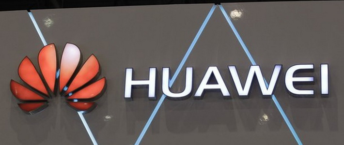 A Huawei logo is pictured at the ITU Telecom World in Geneva