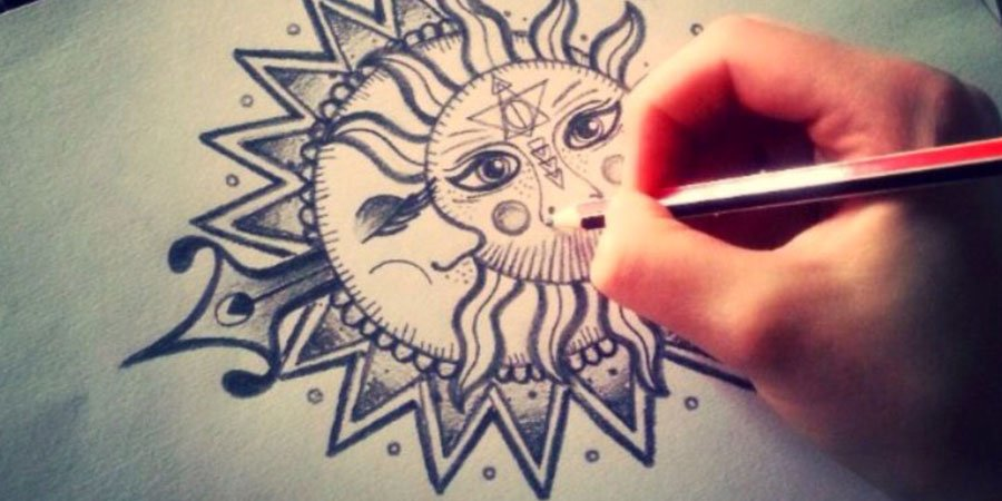 immagine con sole e luna