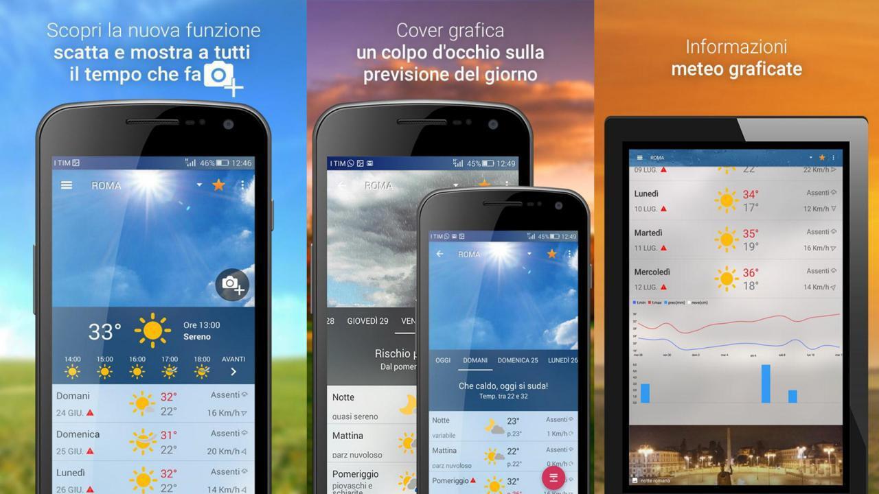 Widget 3B Meteo gratis per Android e iOS