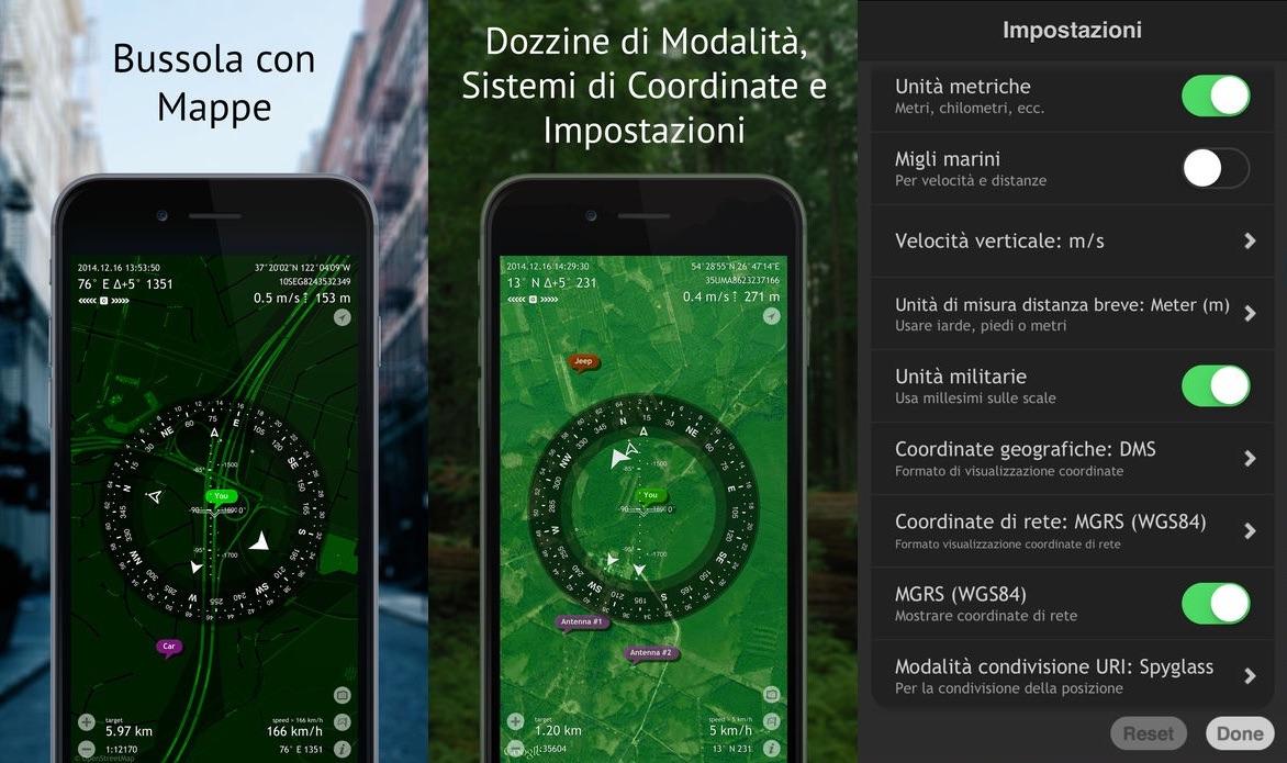 Bussola Gratis Commander Compass Go per iOS