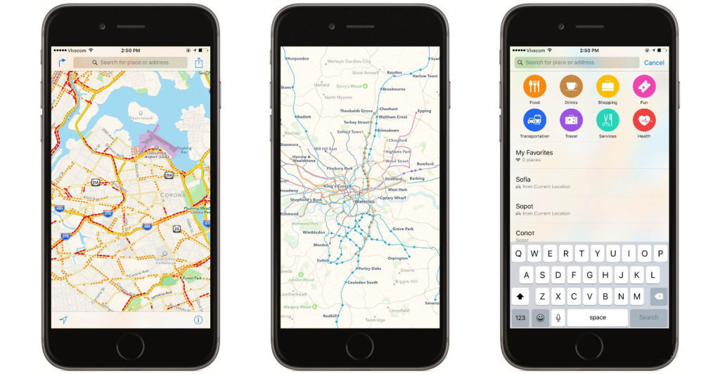 Mappe Apple navigatore GPS per iPhone