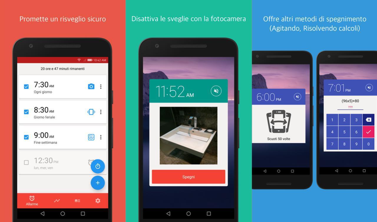 Sveglia gratis Alarmy per Android e iOS