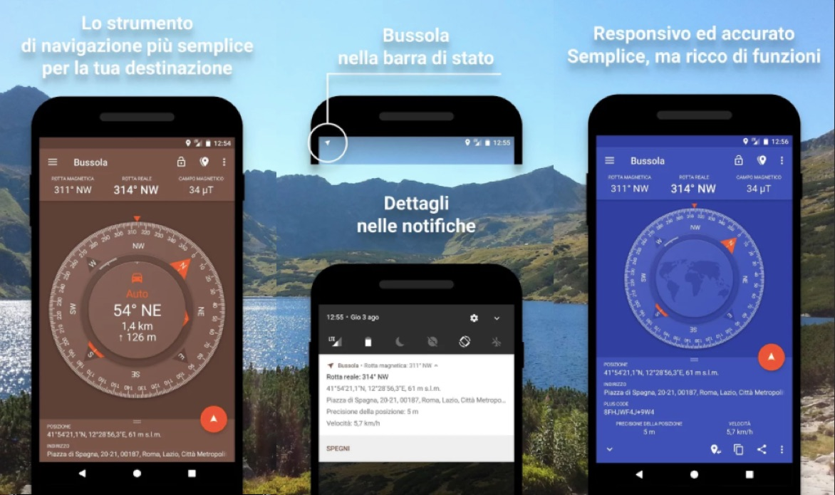 bussola per android
