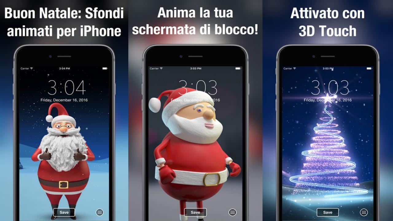 Sfondi animati gratis Buon Natale per iOS