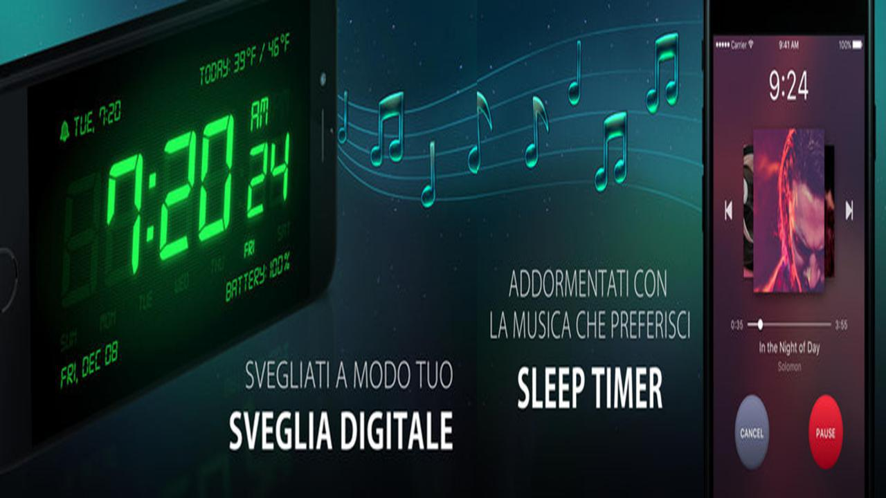 Sveglia gratis digitale per iOS