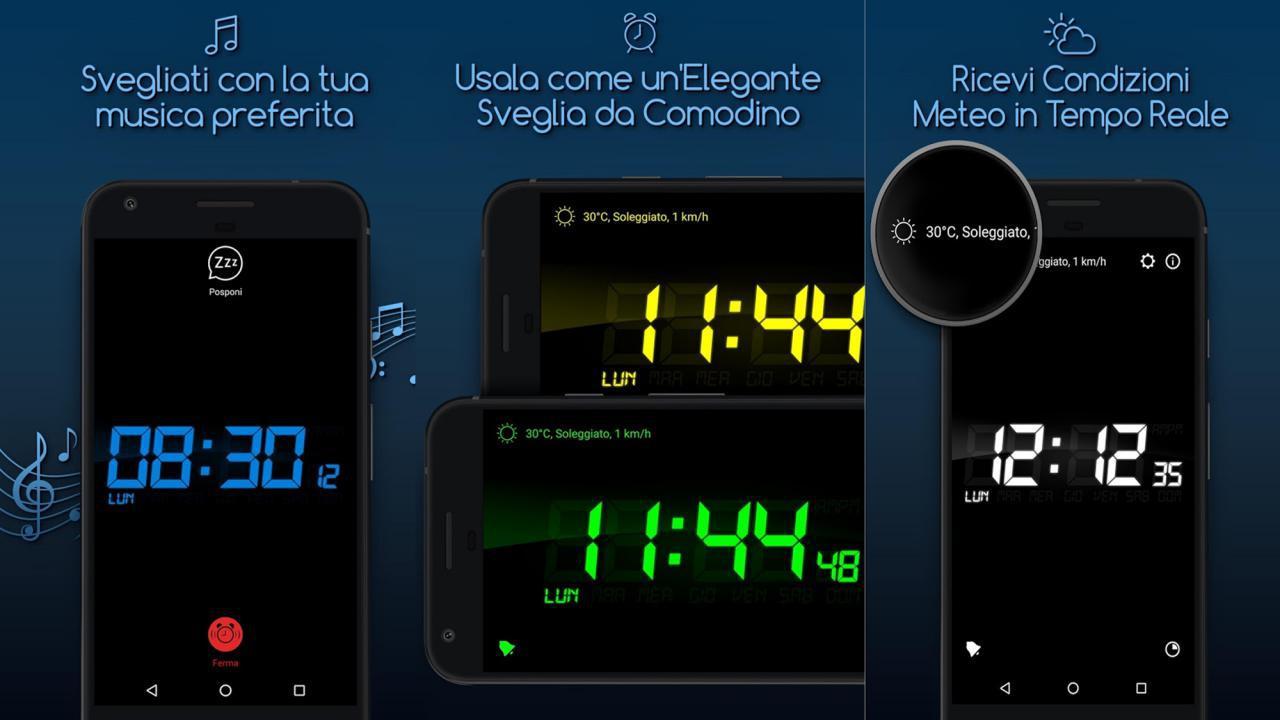Sveglia gratis per me per Android e iOS