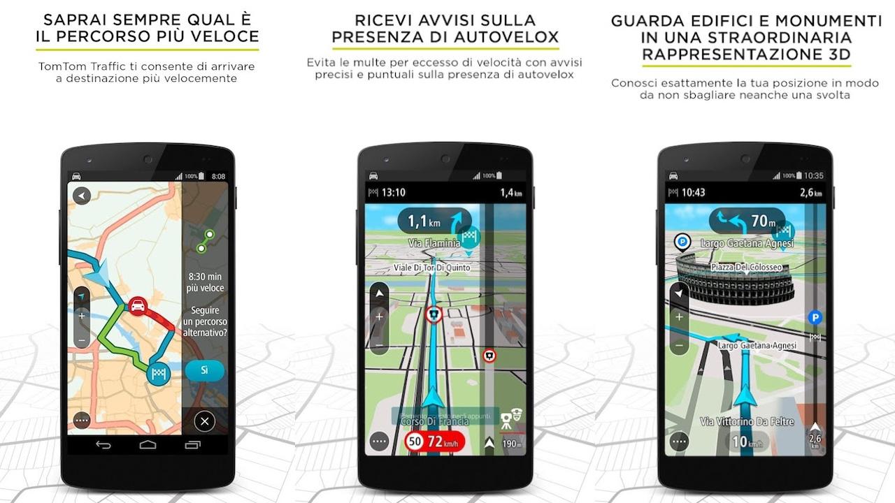 TomTom Go Mobile navigatore con voce per Android e iPhone