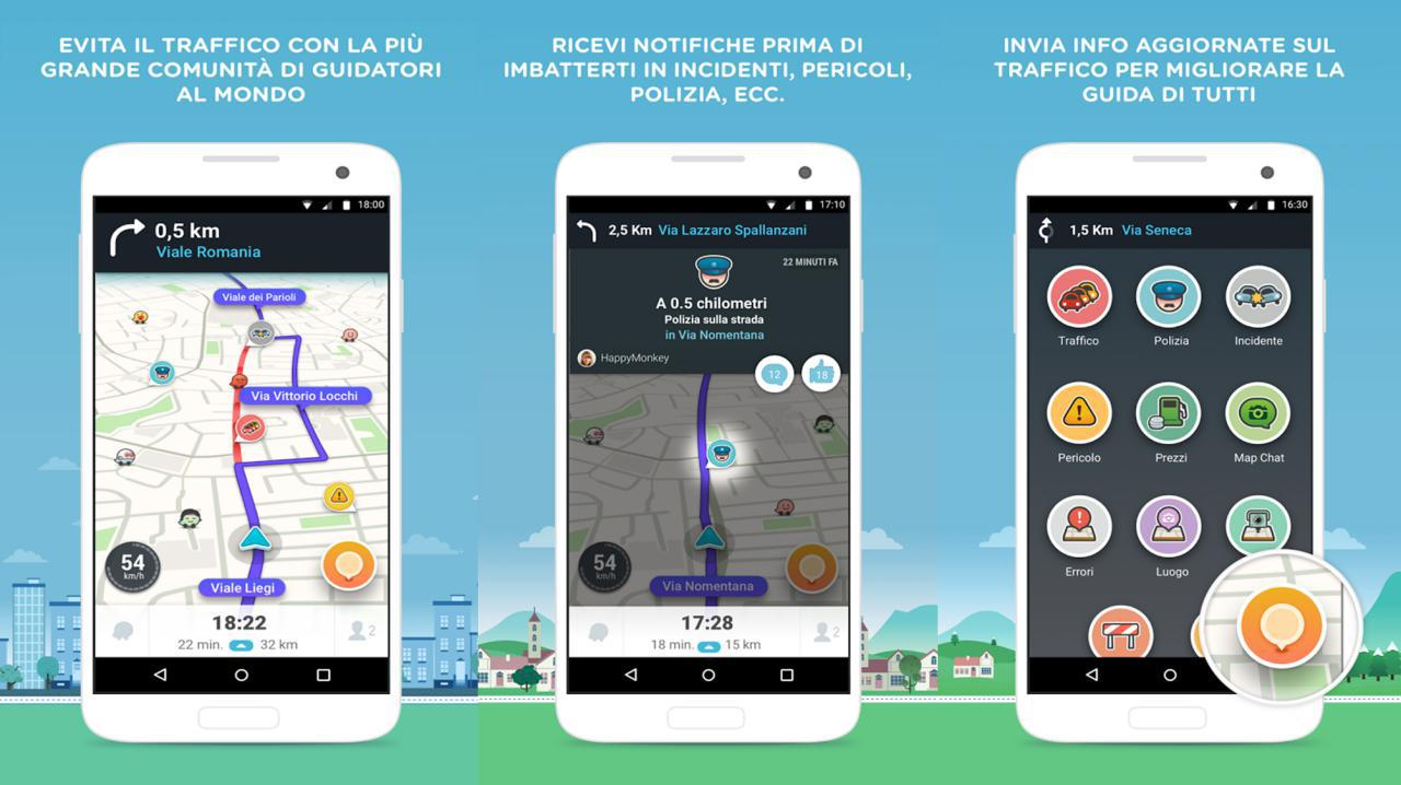 Waze navigatore italiano per Android e iPhone