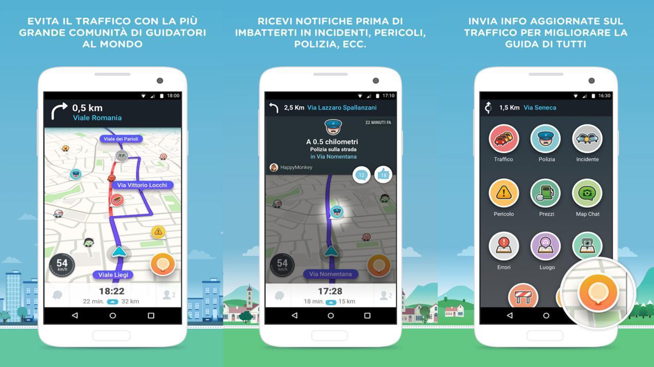 Waze navigatore italiano per Android e iPhone