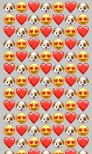 Sfondo WhatsApp emoticon dolci