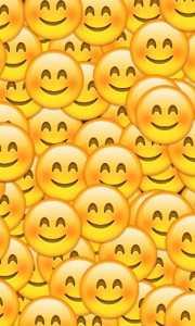 Sfondo WhatsApp con faccine sorridenti