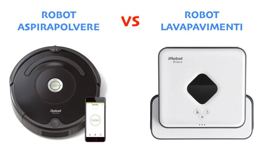 differenza robot aspirapolvere lavapavimenti